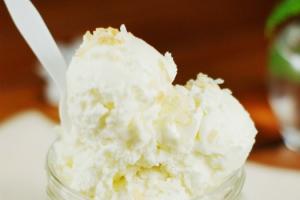 Home-made coconut ice cream - delivery menu