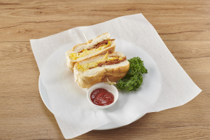 Scrambled Egg Sandwich with Bacon - delivery menu