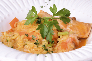 Rice with Salmon - delivery menu