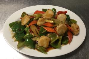 32. Szechuan Scallops - delivery menu