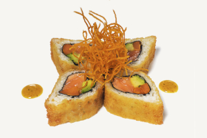 Fried Curry Salmon Roll Maki - delivery menu