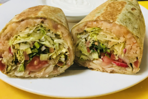 Burrito Vegetariano - delivery menu