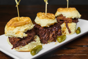 Pulled Pork on Biscuits - delivery menu
