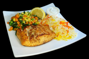 Grilled Salmon Entree - delivery menu