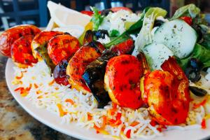 Fried Shrimp Kabob Plate - delivery menu