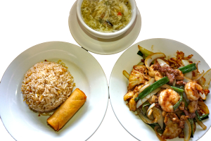 L30. Mongolian Trio Lunch Special - delivery menu