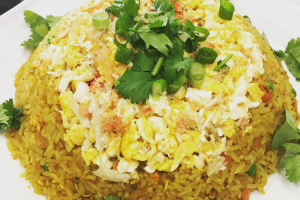Curry crab meat fried rice  - delivery menu