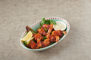 Butterfly Shrimps with Bacon - delivery menu