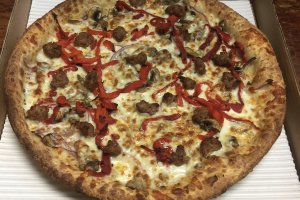 20. Italian Sausage and Veggie Pizza - delivery menu