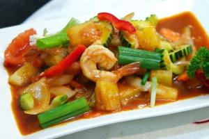 123. Koong Priew Warn - delivery menu