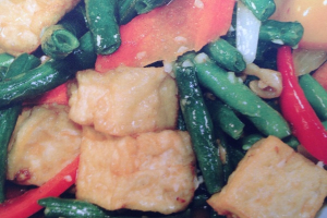 616. String Beans and Fried Tofu with Garlic Sauce - delivery menu
