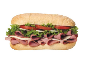 Ham and Cheese Sub - delivery menu