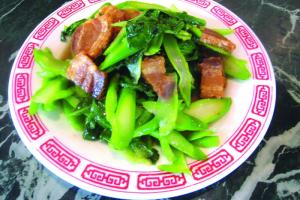 87. Chinese Broccoli with Crispy Pork - delivery menu