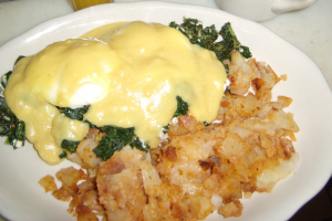 Eggs Benedict with Spinach and Feta Cheese - delivery menu