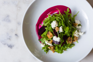 Candy Cane Beet and Arugula Salad - delivery menu