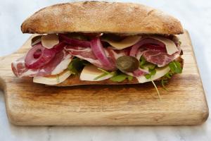Capocollo,Gruyere,pickled onion,pickled jalapeño,arugula - delivery menu