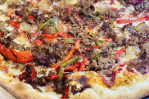 South Philly Cheesesteak Pizza - delivery menu