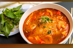 Rice Noodle Tom-Yum Soup with Seafood - delivery menu