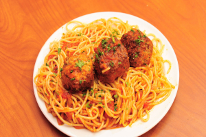 Spaghetti and Meatballs - delivery menu