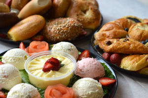 Bagels,  Cream Cheese and Butter Platter - delivery menu