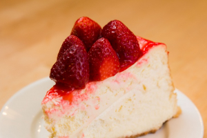 Cheesecake Topped with Fresh Strawberries - delivery menu