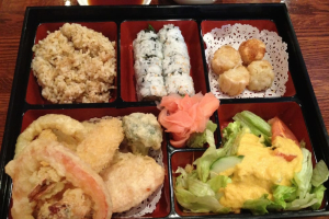 Vegetable Tempura Lunch Bento Box - delivery menu