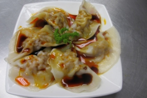 12. 6 Pieces Wonton in Red Oil - delivery menu