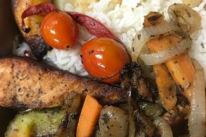 Jerkin Salmon Lunch - delivery menu
