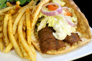 15. Gyro with French Fries - delivery menu