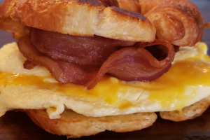 Bacon, Egg and Cheese on a Croissant - delivery menu