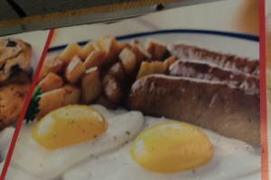 2 Eggs with Sausage - delivery menu