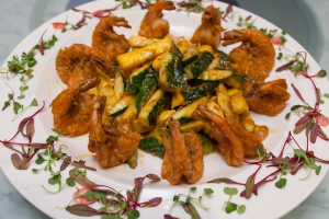 Golden Shrimp and Squash - delivery menu