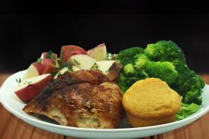 1/4 Dark Chicken - delivery menu
