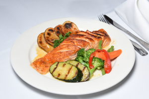 Grilled Salmon with Vegetables - delivery menu