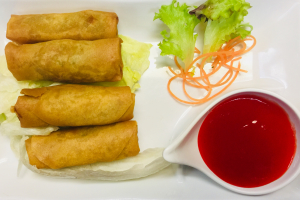 4 Piece Vegetable Spring Roll - delivery menu