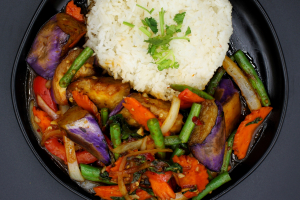 SN4. Spicy Eggplant Grapow - delivery menu