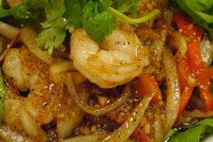 51. Garlic Pepper Prawns - delivery menu