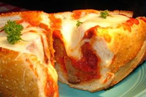 Meatball Parmesan Hero - delivery menu