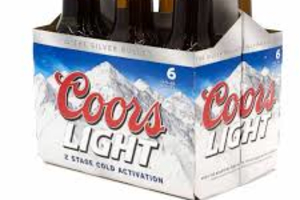 Coors Light (6 Pack) ( Must be 21 to purchase.) - delivery menu