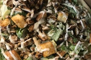 """18"""" Round Grilled Chicken Caesar Pie - delivery menu"""