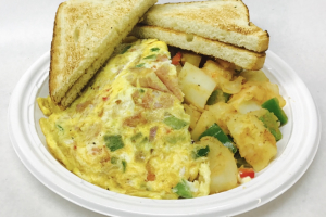 Western Omelette Platter - delivery menu