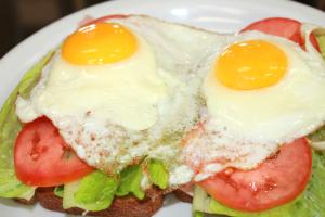 Open-Faced Breakfast Sandwich - delivery menu