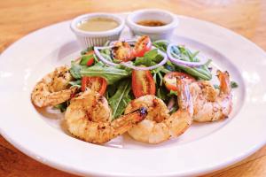 Arugula shrimp salad  - delivery menu