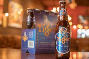 Tiger (Singapore Pale Lager, 5% Alc) 11.2 oz Bottle or 6-Pack Bottles - delivery menu