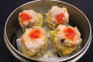 (DIM SUM): Shrimp & Pork Dumpling (XIU MAI) (4 pieces) (100% HOMEMADE) - delivery menu