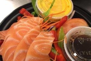 Salmon Sashimi Salad - delivery menu