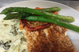 Salmon Florentine Dinner - delivery menu