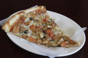 Chicken, Tomato, and Onion Pizza - delivery menu