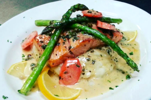 Baked Salmon - delivery menu