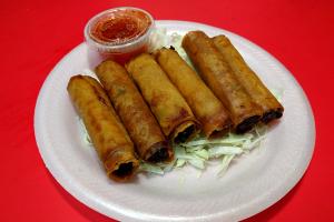 13. 6 Pieces Chicken Lumpia - delivery menu